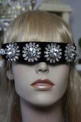 1147 Clear Crystal Glass Fancy Headband