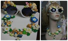 976  Zibellini Minions Flower Unique Necklace Choker