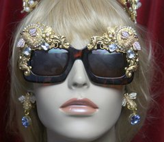 2759 Total Baroque Crystal CLear Bee Curves Embellished Sunglasses