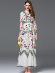 2 Runway emroidery Maxi Dress Size M
