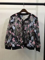 2172 Designer Inspired Runway Swan Sakura Embroidery Fancy Bomber US2- US4