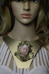 1757 Total Baroque Vivid Sleeping Cherub Mirrow Huge Necklace
