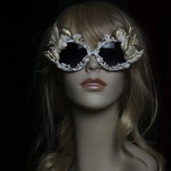 SOLD!!Baroque Incredible Cherub Vintage Gold Faded Unusual Fancy Sunglasses Eye Wear