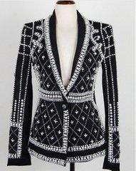 1100 Designer Inspired Pearl Beaded Tailored Blazer