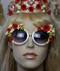 1521 Bee Poppy Embellished Fancy Sunglasses