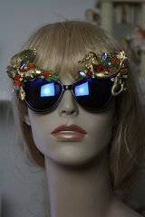SOLD!Mermaids Gold Fish Coral Art Nouveau Embellished Unusual Sunglasses