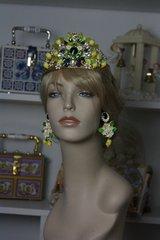 111 Spring 2016  Lemon Filigree Crown Headband