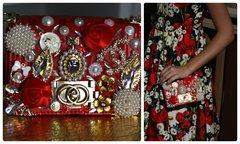 955  KIDS Madam Coco Brooches Enamel Eye-Catch Red Fairy Purse Handbag