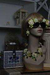 SOLD!  Spring 2016 Lemon Fruit Flower Set Necklace Plus Earrings