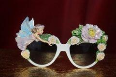 2742 Hand Painted Fairy Flower Unusual Sunglasses