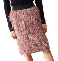 1865 Ostrich Feather 3 Colors Fancy Skirt