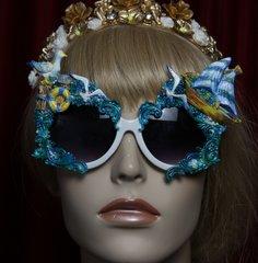 1956 Nautica Seagal Ship Sea Unusual Embellished Sunglasses