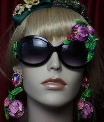 SOLD! 1973 Dark Purple Hand Painted Tulip Sunglasses Shades
