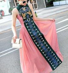 1054 Designer Ethnic Squirrels Emroidery Fancy Mid Cuff Dress