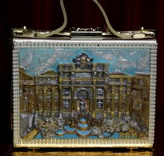1912 Roma Revival 3 D Effect Piazza Navona Embellished Handbag