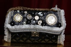 2241 Madam Coco Embellished Brooches Crossbody Handbag