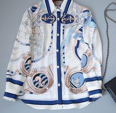 1783 Designer Inspired Marine Nautica Blouse Shirt