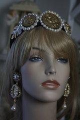 51 Baroque Pearl Roman Coin Headband