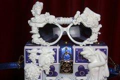 2502 Roman Revival Statue White Architect Unusual Sunglasses