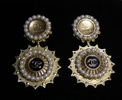 1585 Repurposed Chanel Buttons Earrings Studs
