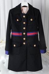 1453 Spring Designer Inspired Elegant Striped Belted Coat