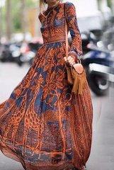 2077 Designer Inspired African Print Maci Dress