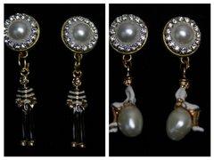 1638 Madam Coco Enamel Charm Studs Earrings