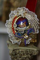 1167 Victorian Cat Lace Incredible Cuff Bangle