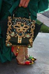 SOLD! 291 Total Baroque Huge Gold Snake 3DEffect Embellished Gold Purse Handbag