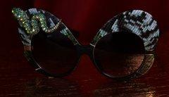1872 Trendy Oversized Crystal Snake Sunglasses