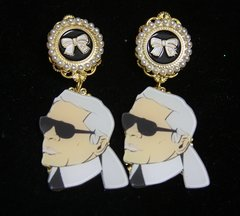SOLD! 2475 Byzantine Light Weight Portait Studs earrings