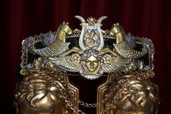 2369 Baroque Medieval Medusa Horses Wide Waist Belt