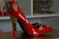 SOLD!Lipstick Heel Designer Inspired Red Shoes Size 7.5