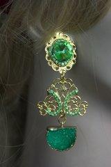 2267 Genuine Green Druzy Agate Crystal Studs Earrings