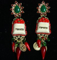 SOLD! Red Tomato Chilly Designer Inspired Studs Earrings