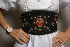 SOLD! 1543 Total Baroque Red Heart Cherub Corset Waist Belt