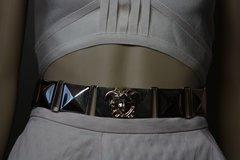 1759 Medusa Gold tone Waist Metal Belt