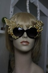 SOLD! 436 Embellished Pegasus Gold Wing Rose Fancy Eyewear Sunglasses