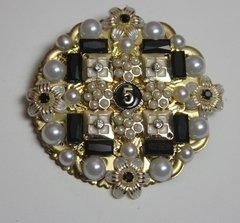 1689 Madam Coco Number 5 Rounded Huge Brooch