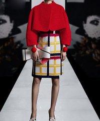 1709 Woolen Designer Twinset Dress Plus  Crop Blazer