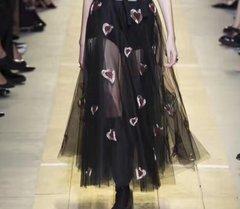 2401 Runway Black Sheer Heart Skirt+ Top
