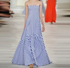 2062 Designer Striped Fancy Maxi Dress US4-US6