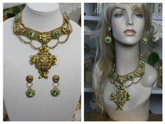 1489 Total Baroque Lion Green Swarovski Crystal Set