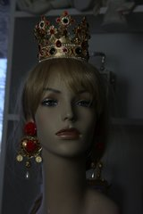 SOLD! Baroque Imperial Royal Rhinestone Full Crown Head Piece Crown