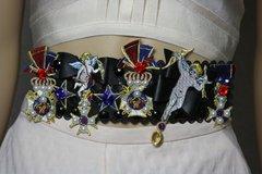 1885 Baroque Cherub Angel Applique Pearl Star Waist Belt