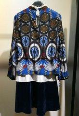 2115 Designer Inspired Fancy Velvet Blend Midi Dress US2-US4