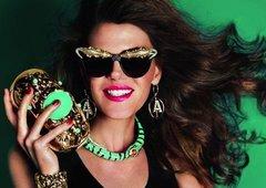 SOLD! Designer Inspired Anna Crocodile Crystal Unusual Unique Fancy Sunglasses