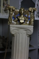 SOLD! 556  COLLECTIBLE Total Baroque 3D Effect Gold Roman Ruins Augustus Purse Handbag Clutch