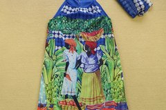 5 Scarf Print Bohemian Maxi African Bright Print Dress
