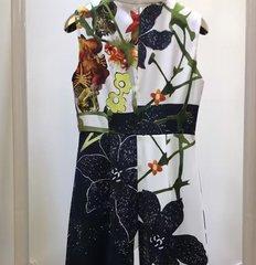1182 Designer Inspired Floral Print Pencil Elegant Dress